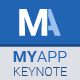 Free Download MyApp Keynote Template Nulled