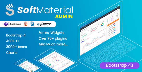 Suave Material – Bootstrap Admin Templates Web Apps & UI Kit