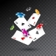 Realistic Falling Casino Chips and Poker Cards
