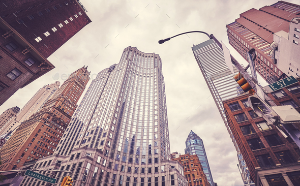Skyscrapers at Lexington Avenue, New York City, USA. - Stock Photo - Images