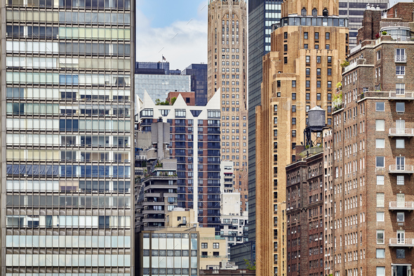 Picture of New York City buildings. - Stock Photo - Images