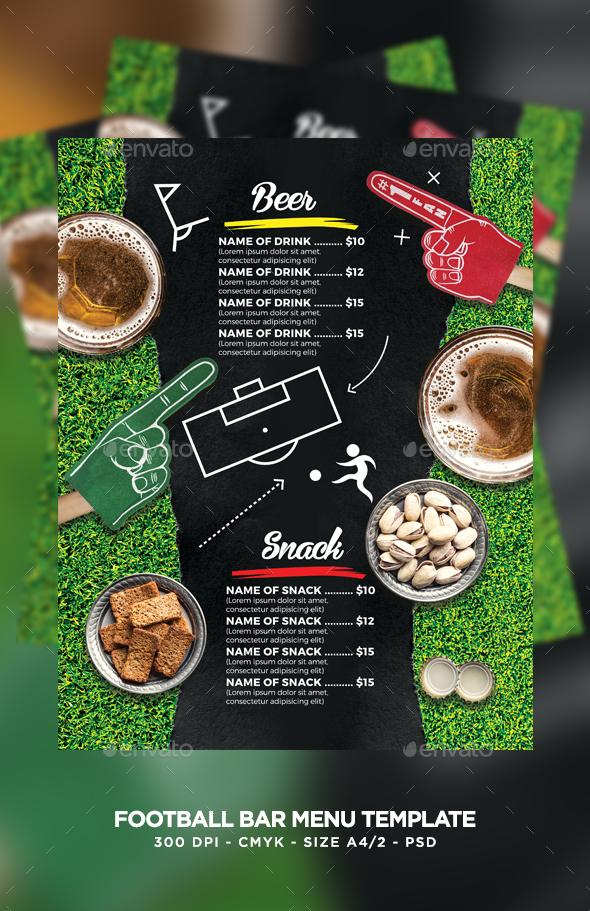 Football Bar Menu by MaksN   GraphicRiver
