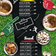 Football Bar Menu