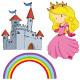 Princess & Castle Vectors illustrations
