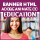 Education Banners - 7sizes (Animate CC) - CodeCanyon Item for Sale