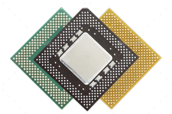Central processing unit or Computer chip-12 - Stock Photo - Images