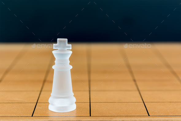 Chess glass on a wood chessboard_-29 - Stock Photo - Images