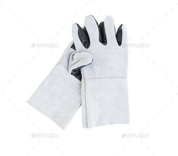 Leather gloves for welding (2) - Stock Photo - Images