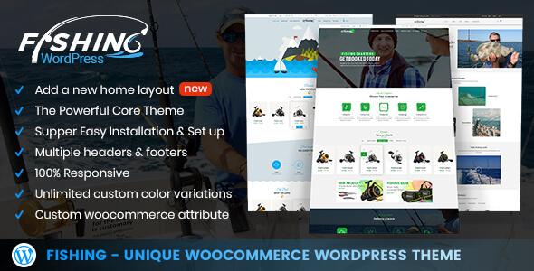Fishing - WordPress Theme For Fishing Store - Retail WordPress