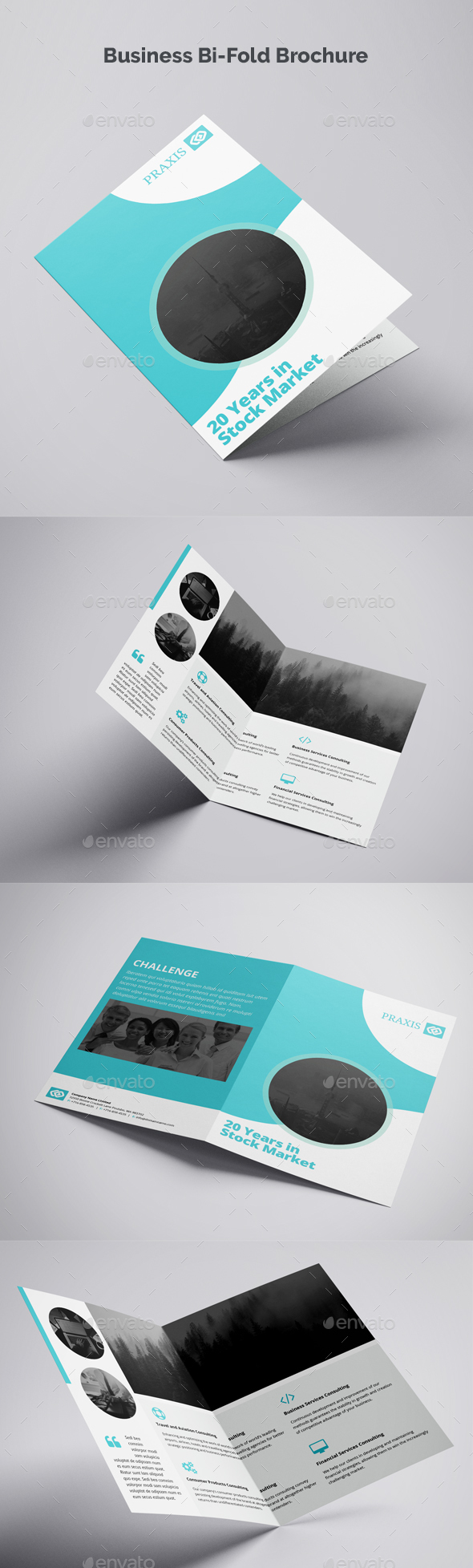 Business Bi-Fold Brochure - Brochures Print Templates