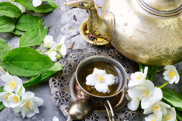 Tea with jasmine - Stock Photo - Images