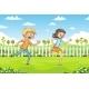 Two Children Are Running