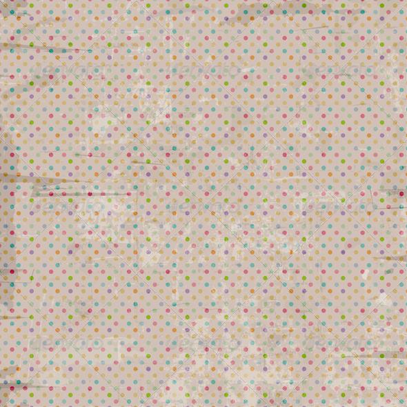 Vintage Polka Dot Background - Patterns Decorative