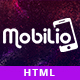 Free Download Mobilio App Landing HTML5 Template Nulled