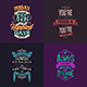 Typography Badges And Labels Vol.14 - GraphicRiver Item for Sale