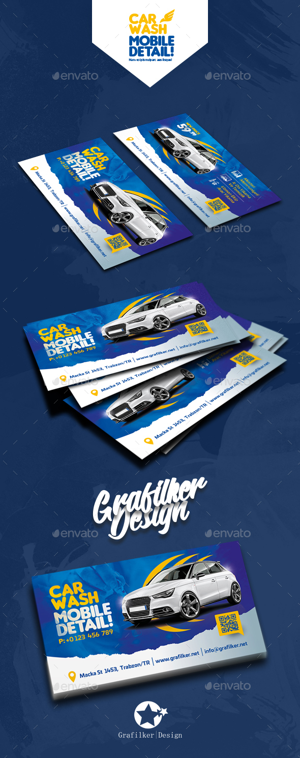 Car Wash Business Card Templates - Corporate Business Cards