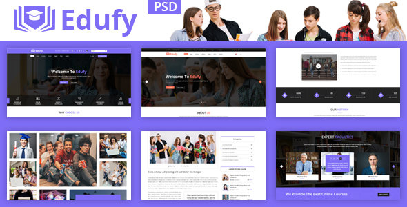 Edufy Education Courses PSD Template