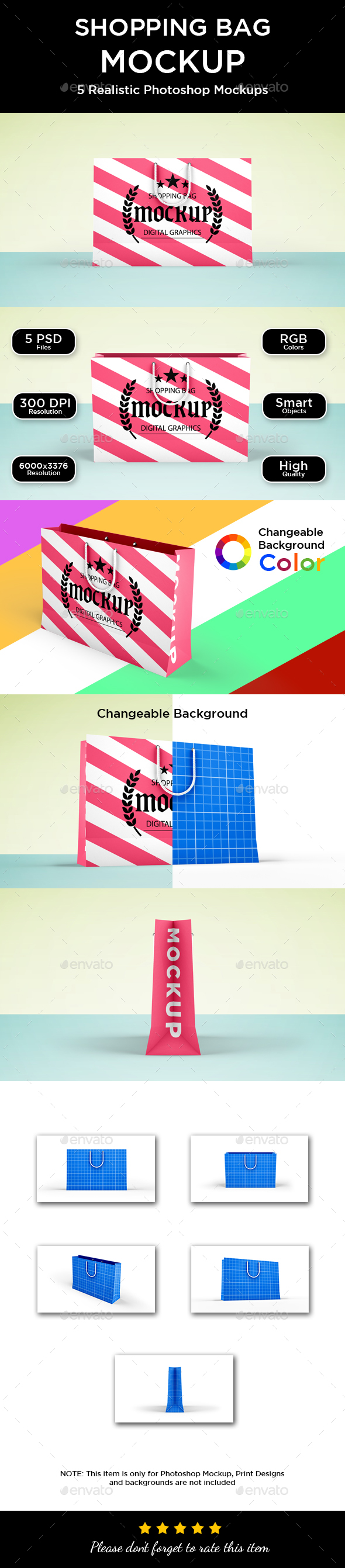 Shopping Bag Mockup - Packaging Product Mock-Ups