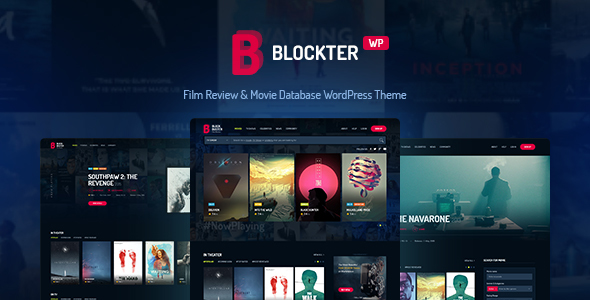 Image of Blockter - Movie & TV Show database WordPress Theme