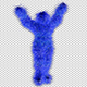 Blue Hairy Dancer - VideoHive Item for Sale