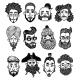 Set of Mens Faces