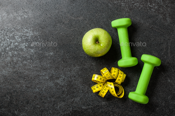 Fitness concept background, copy space - Stock Photo - Images