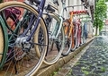 A Row of Colourful Bicycles - PhotoDune Item for Sale