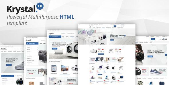 Krystal – Multipurpose ECommerce HTML Template