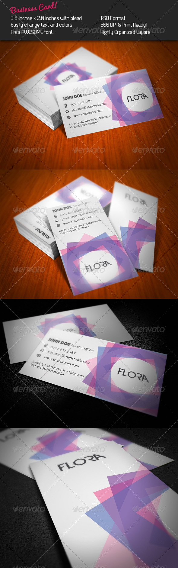 Flora Business Card - Creative Business Cards
