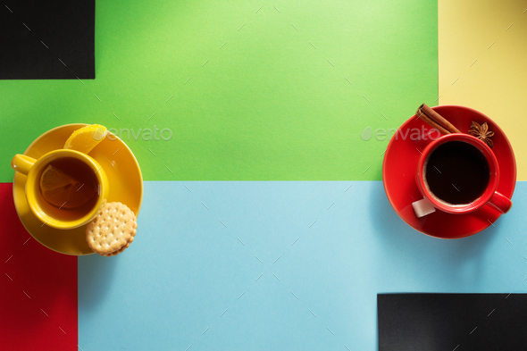 cup of coffee and tea - Stock Photo - Images