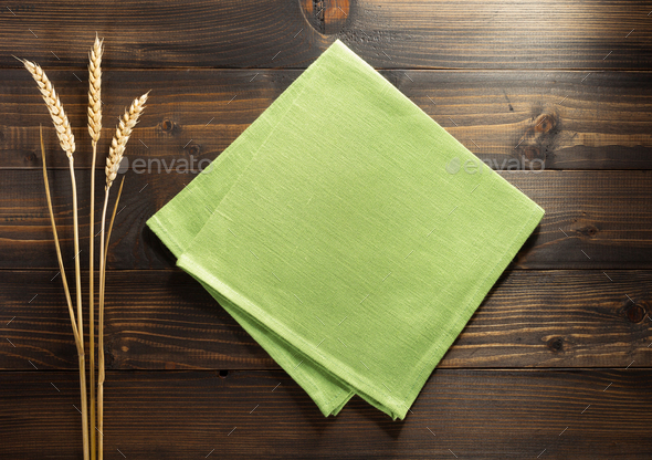 ears of wheat on wood - Stock Photo - Images