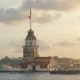Maidens Tower in Istanbul, Turkey, Kiz Kulesi Tower, Sunset in Istanbul - VideoHive Item for Sale