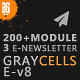 Free Download Graycells-Email v8 | 200+ Attractive Modules Template Nulled