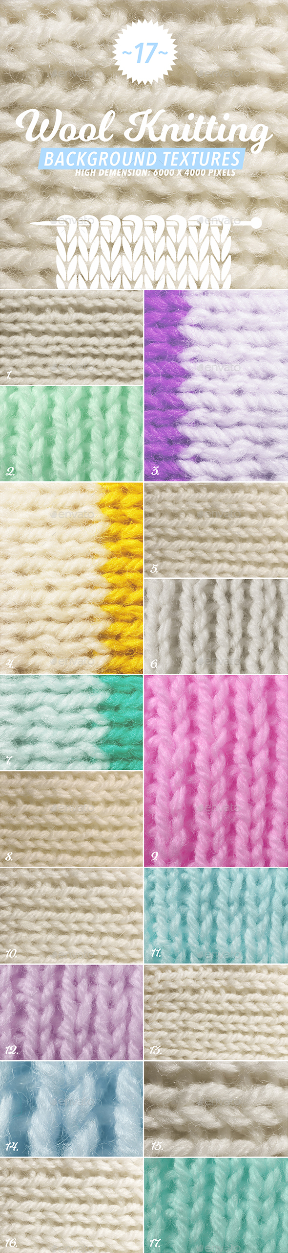 17 Wool Knitting Textures - Fabric Textures