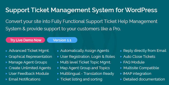Support Ticket Management System for WordPress            Nulled