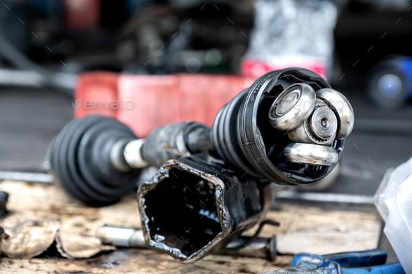 Repair drive shaft (CV Joint),Car maintenance. - Stock Photo - Images