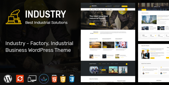 Industry - WordPress Theme for Factory and Industrial Business - Business Corporate