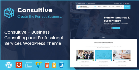 Consultive - Business Consulting and Professional Services WordPress Theme - Business Corporate