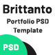 Free Download Brittanto - Creative Personal Portfolio PSD Template Nulled