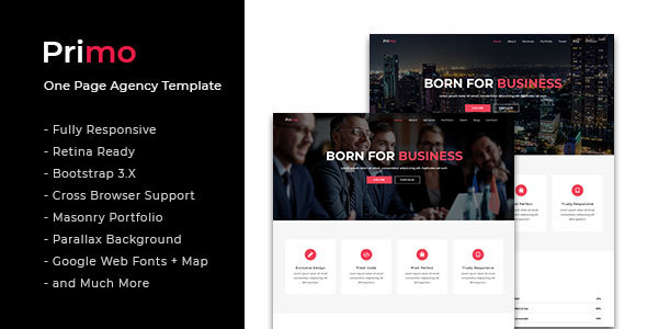 Image of Primo - One Page Agency Template