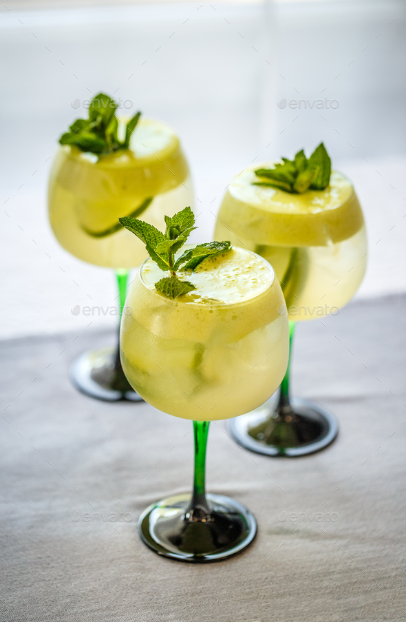 Three summer cocktails drink - Stock Photo - Images