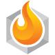 Hexagon Flame Logo
