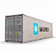 40 feet High Cube Maersk shipping container model