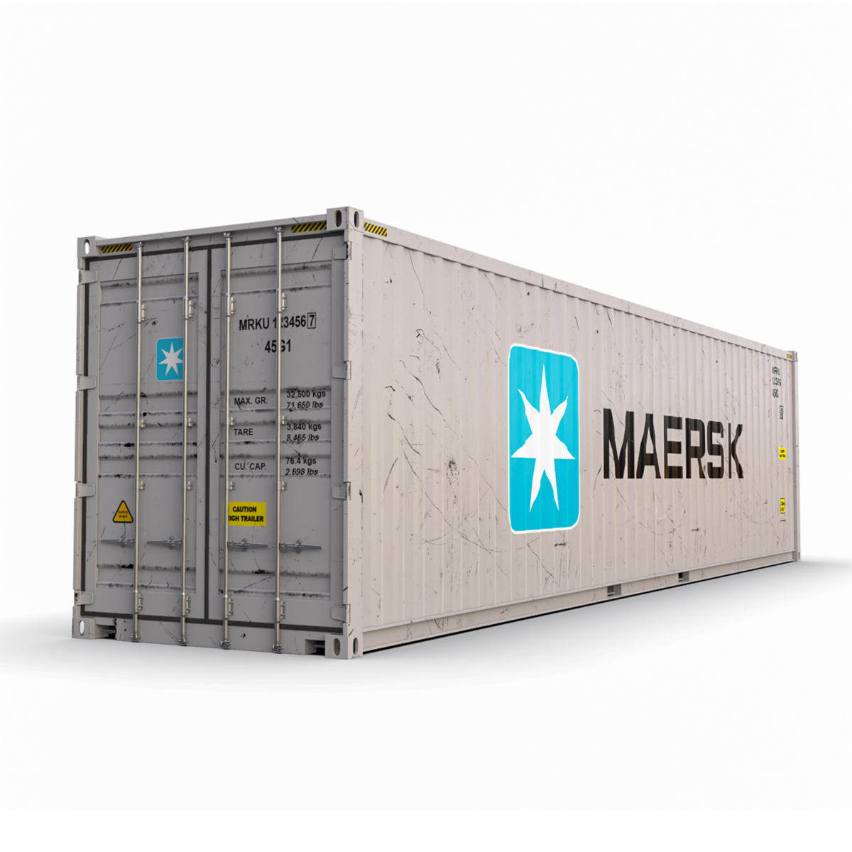 40 Shipping Container >> 40 Feet High Cube Maersk Shipping Container Model