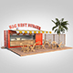 Shipping container food stand - 3DOcean Item for Sale