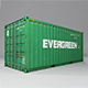 20 feet Evergreen shipping container - 3DOcean Item for Sale