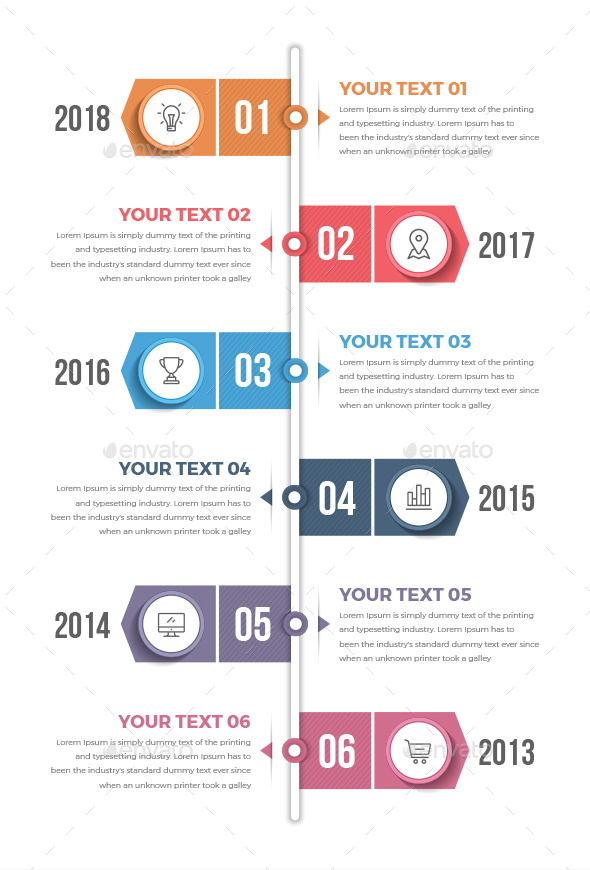 Vertical Timeline Infographics - Infographics