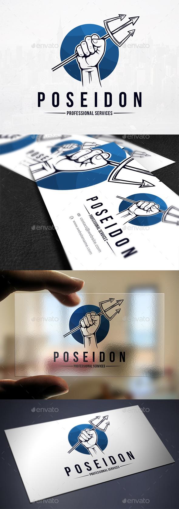 Trident of Poseidon Logo - Objects Logo Templates