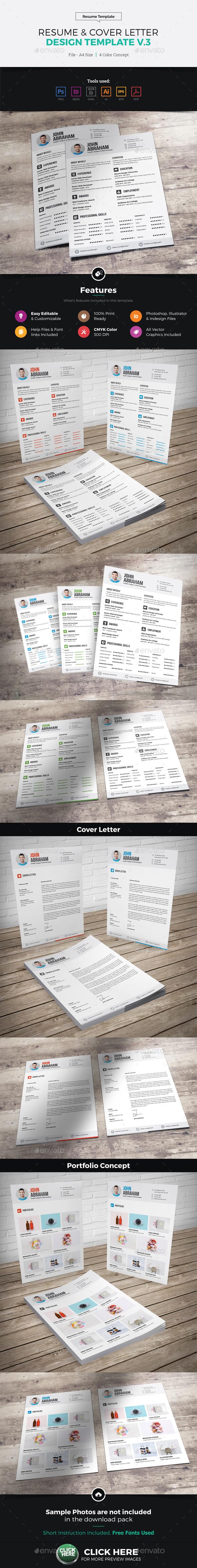 Resume & Cover Letter Design v3 - Resumes Stationery