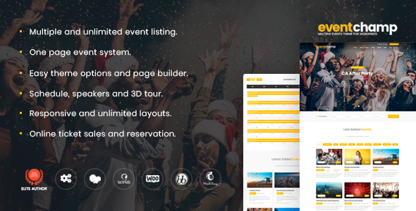 Image of Event Champ – Multiple Events & Conference WordPress Theme
